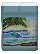 Hawaiian Tropical Wave Art Print Painting #424 Duvet Cover