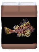 Hawaiian Turkey Fish Duvet Cover