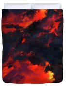 Hawaiian Volcano Lava Flow Duvet Cover