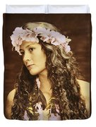 Hawaiian Wahine Duvet Cover
