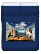 Hawaiian Zen Room Duvet Cover