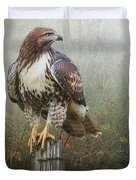 Hawk And Barbed Wire Duvet Cover