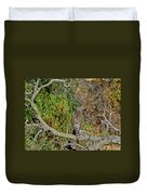 Hawk In Hiding Duvet Cover