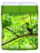Hawk In Sycamore Duvet Cover