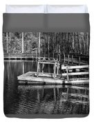 Hawk Island Michigan Dock  Duvet Cover
