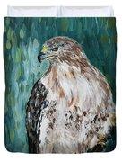 Hawk Duvet Cover by Maria Langgle