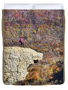 Hawksbill Crag In Autumn Duvet Cover