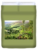 Hawthorn Branch With View To Wicklow Hills. Ireland Duvet Cover