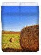 Hay Bales Duvet Cover by Dominic Piperata