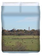 Peaceful Hay Field Duvet Cover