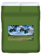 Hay Field In Summertime Duvet Cover