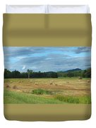 Hay Fields In The Adirondacks Duvet Cover