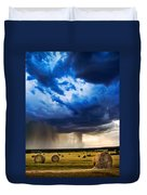 Hay In The Storm Duvet Cover