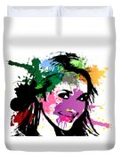 Hayden Panettiere Pop Art Duvet Cover
