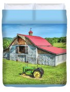 Hayesville Barn And Tractor Duvet Cover
