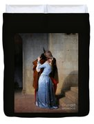 Hayez, The Kiss Duvet Cover