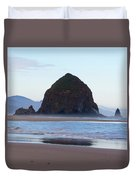 Haystack At Cannon Beach In June Duvet Cover
