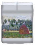 Haystack At Giverny, 1885 Duvet Cover