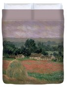Haystack At Giverny Duvet Cover