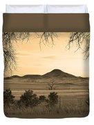Haystack Mountain - Boulder County Colorado - Sepia Evening Duvet Cover