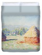 Haystacks In The Sun Duvet Cover
