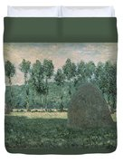 Haystacks Near Giverny Duvet Cover