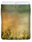 Haze On Moonlit Meadow Duvet Cover