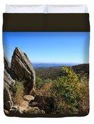 Hazel Mountain Overlook On Skyline Drive In Shenandoah National Park Duvet Cover