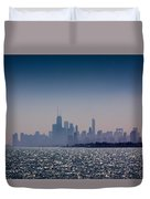 Hazy Chicago Duvet Cover