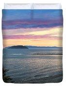 Hazy Evening Sunset Duvet Cover