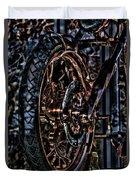 Hdr Liberty Bike Copper Ny Duvet Cover