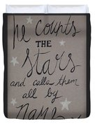 He Counts The Stars Duvet Cover