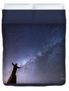 He Held The Stars In The Palm Of His Hand Duvet Cover