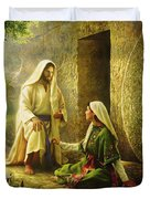 He Is Risen Duvet Cover by Greg Olsen