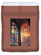 He Shall Bring You Into The Light Duvet Cover