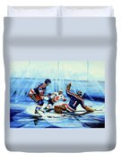 He Shoots Duvet Cover by Hanne Lore Koehler
