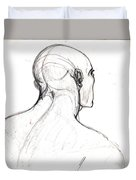Head, Back View Duvet Cover
