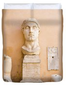 Head From The Statue Of Constantine, Rome, Italy Duvet Cover