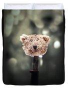 Head Of A Teddy Duvet Cover by Joana Kruse