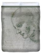 Head Of A Young Woman Or Head Of The Virgin Duvet Cover