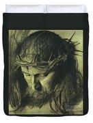 Head Of Christ Duvet Cover by Franz Von Stuck