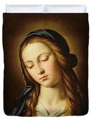 Head Of The Madonna Duvet Cover