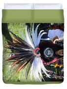 Head Piece Dancer Day Of The Dead  Duvet Cover