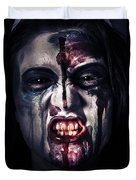 Head Shot On A Pure Evil Zombie Girl Duvet Cover
