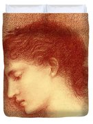 Head Study Of Maria Zambaco The Wine Of Circe Duvet Cover