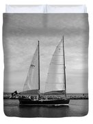 Headed Out To Sea Duvet Cover