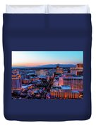 Heading North On The Strip Duvet Cover