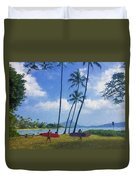 Heading Out To Surf Duvet Cover