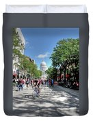 Heading To Camp Randall Duvet Cover