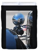 Headlamp And Flags Duvet Cover